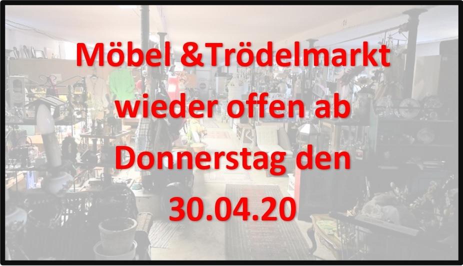 Möbel & Trödelmarkt öffnet wieder seine Türen
